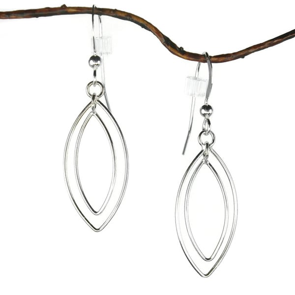Jewelry by Dawn Double Marquis Sterling Silver Earrings