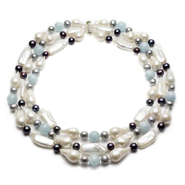 Shop Sterling Silver Multi-colored Freshwater Pearl And