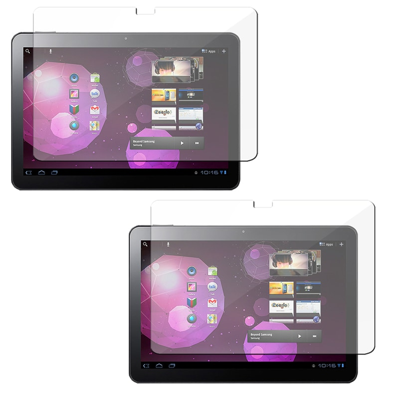 INSTEN Clear Screen Protector Set for Samsung Galaxy 10.1v (Pack of 2)