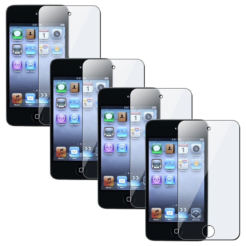 INSTEN Clear Screen protector for Apple iPod Touch Generation 4 (Set of 4) - Thumbnail 0