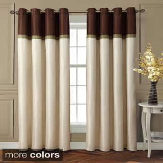curtains for living room window. VCNY Westin Interlined Room Darkening Grommet 84 inch Curtain Panel  55 x Curtains Drapes For Less Overstock com