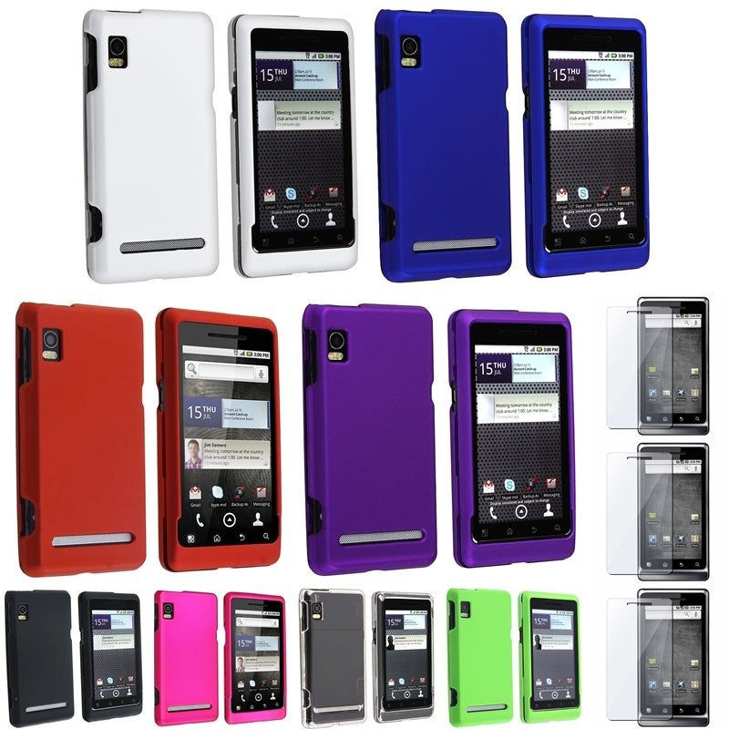 Crystal Case/ Rubber Coated Case/ Protector for Motorola Droid 2 A955