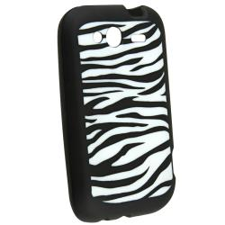 Black/ White Zebra Silicone Case/ Screen Protector for HTC Wildfire S - Thumbnail 1