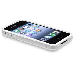 Clear/ White TPU Bumper Case/ Car Phone Holder for Apple® iPhone 4/ 4S - Thumbnail 2