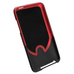 INSTEN Red/ Black Rubber Coated iPod Case Covers for Apple iPod Touch 3rd Generation