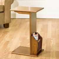 Porch & Den RiNo Arkins Oak Magazine Snack Table