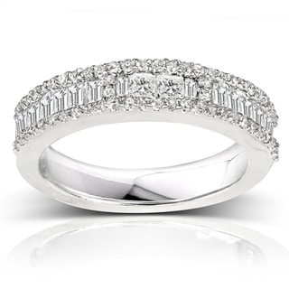 Link to Annello by Kobelli 14k White Gold 3/5ct TDW Diamond Wedding Band (H-I, I2) Similar Items in Rings