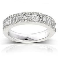 Annello by Kobelli 14k White Gold 3/5ct TDW Diamond Wedding Band (H-I, I2)