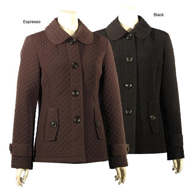 Shop Esprit Womens Shirt Collar Button Front Quilted Barn Jacket