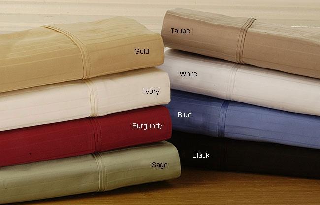 Superior Cotton 1000 Thread Count Twin XL Striped Sheet Set