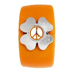 Lucky Brand Women's Orange Rubber Cuff Watch - Thumbnail 1