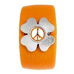 Lucky Brand Women's Orange Rubber Cuff Watch - Thumbnail 2
