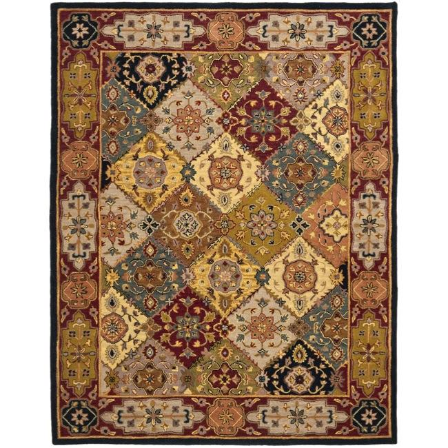 Safavieh Handmade Heritage Traditional Bakhtiari Multi/ Red Wool Rug - 6' x 9'
