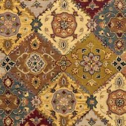 Safavieh Handmade Heritage Traditional Bakhtiari Multi/ Red Wool Rug (6' x 9')