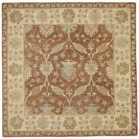 Safavieh Handmade Farahan Brown/ Taupe Wool Rug (6' Square)