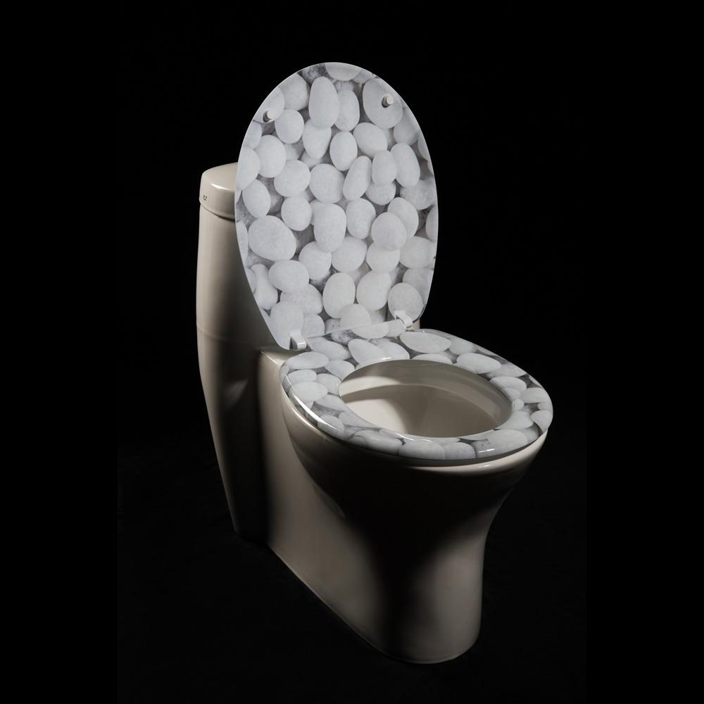 River Rock Designer Melamine Toilet Seat Cover