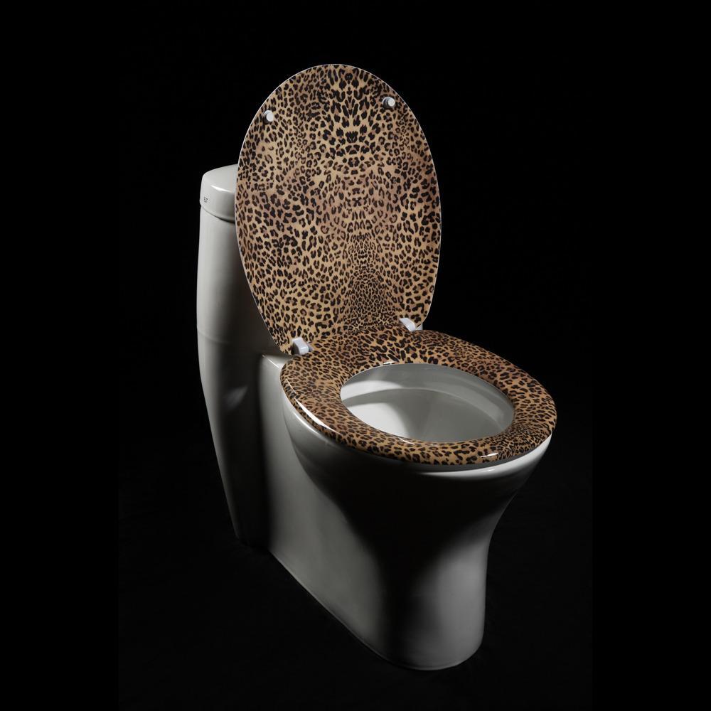 Shop Leopard Print Designer Melamine Toilet Seat Cover
