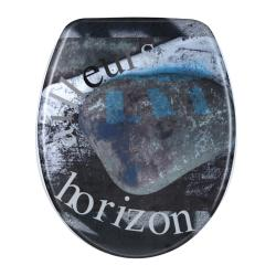 Horizon Graffiti Designer Melamine Toilet Seat Cover - Thumbnail 2