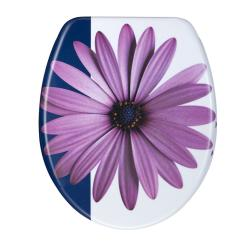 Purple Daisy Designer Melamine Toilet Seat Cover