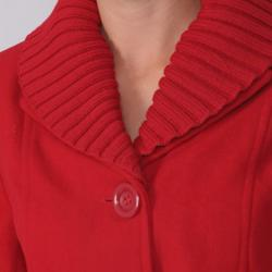 Adi Designs Juniors Shawl Collar Belted Coat - Thumbnail 2