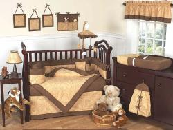 Sweet Jojo Designs Camel Brown Paisley 9-piece Crib Bedding Set - Thumbnail 1