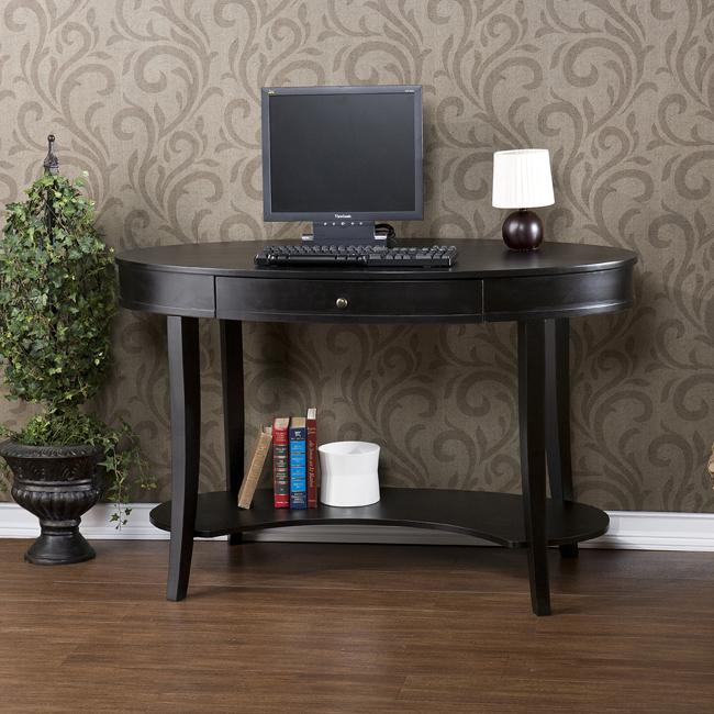 Belmont Ebony Oval Desk