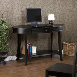 Belmont Ebony Oval Desk - Thumbnail 2