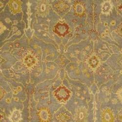 Safavieh Handmade Oushak Slate Blue/ Ivory Wool Rug (4' x 6') - Thumbnail 2
