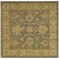 Safavieh Handmade Antiquities Jewel Grey Blue/ Beige Wool Rug (8' Square)