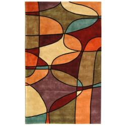 Safavieh Handmade Rodeo Drive Modern Abstract Multicolored Wool Rug (6' x 9')