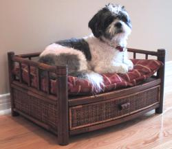 Merry Products Royalty Bamboo Pet Bed - Thumbnail 2