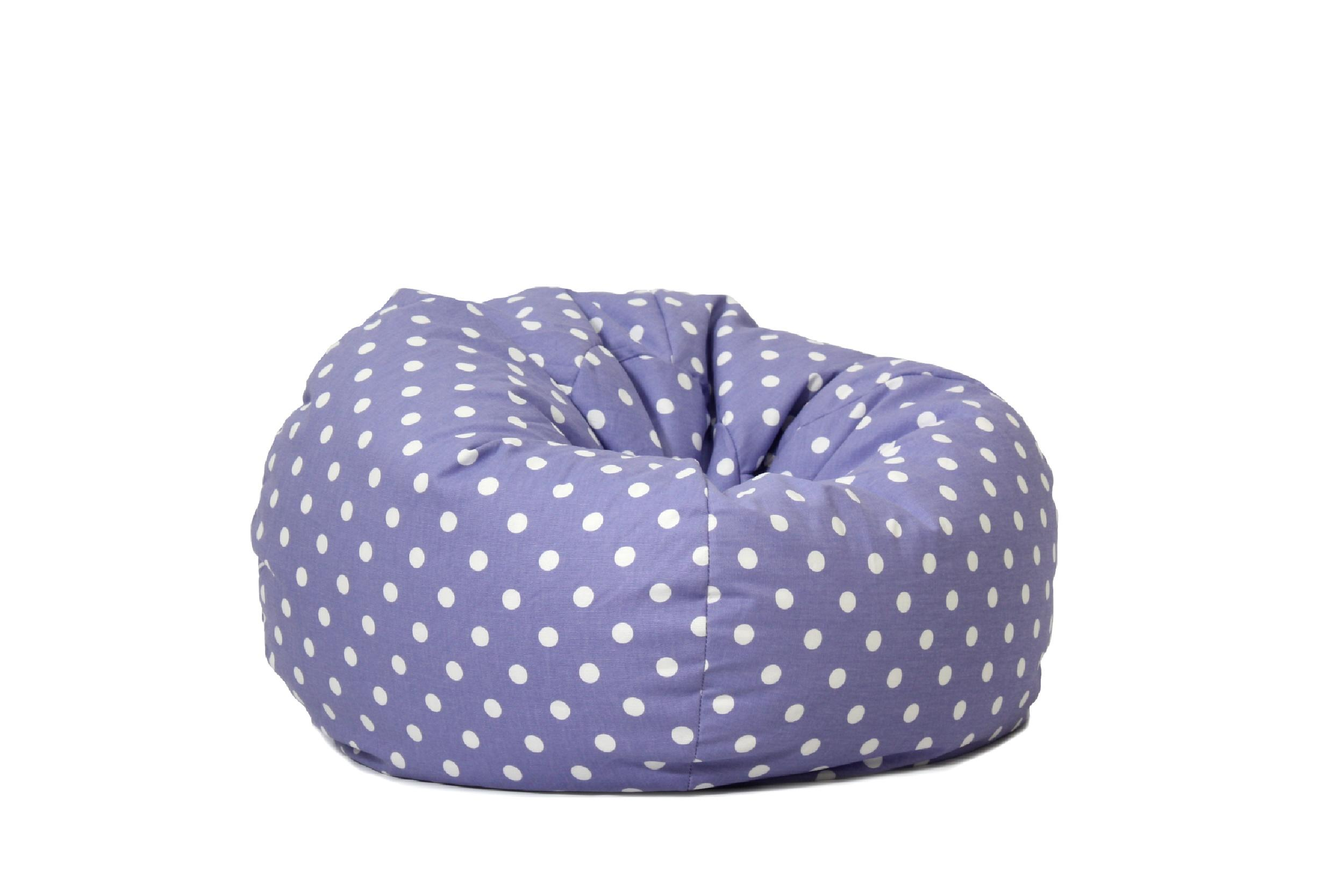 How to make bean bag chairs - Beansack Polka Dot Purple Bean Bag Chair