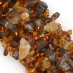Zafrina Bella Bronze Eye/ Glass/ Crystal Bracelet (Guatemala) - Thumbnail 2