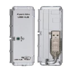 Transparent Laptop Cooling Fan/ 4-port LED USB 2.0 Hub - Thumbnail 1
