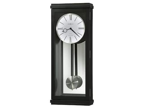 Howard Miller Alvarez Chic, Sleek, Contemporary Modern, Transitional Style Chiming Wall Clock with Pendulum, Reloj De Pared