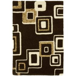 Safavieh Handmade Soho Gala Modern Abstract Brown/ Beige Wool Rug (2' x 3')