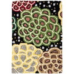 Safavieh Handmade Soho Expand Black/ Multi New Zealand Wool Rug (2' x 3')