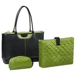 Nunzia Tuscany Women's Green 15.4-inch Laptop Tote - Thumbnail 0