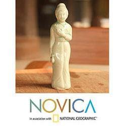 Celadon Ceramic 'Beautiful Queen' Figurine (Thailand)