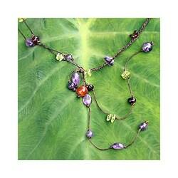 Handcrafted Multi-gemstone 'Gem Rave' Necklace (Thailand)