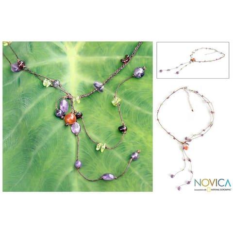 Handmade Multi-gemstone 'Gem Rave' Necklace (Thailand)