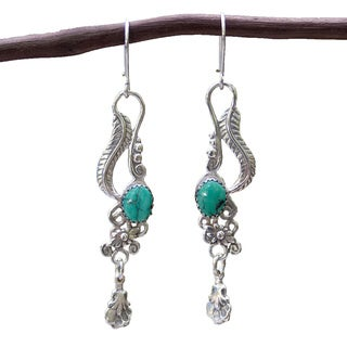 Handmade Sterling Silver 'Daydream' Turquoise Earrings (Mexico)