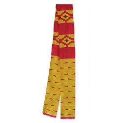 Handmade Cotton Blend 'Koforidua Flower' Kente Cloth Scarf (Ghana)