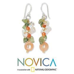 Handmade Sterling Silver 'New Love' Multi-gemstone Earrings (Thailand) - Thumbnail 1