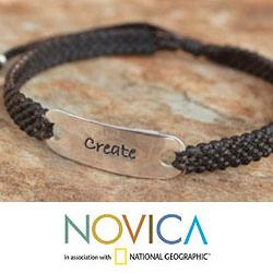 Handcrafted Sterling Silver 'Create a Wish' Bracelet (Thailand)