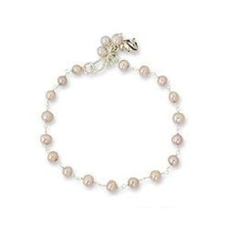 Handmade Sterling Silver 'Pink Rose Horizon' Pearl Floral Bracelet (5-5.5 mm) (Thailand)