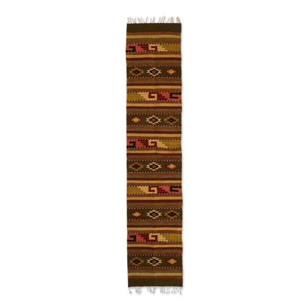 Shop Handmade Wool Earth Horizon Brown Zapotec Rug 1 5 X 6 5 Ft