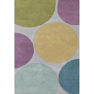 Alliyah Handmade Multicolored New Zealand Blend Wool Rug(8' x 10')