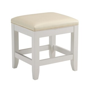 "Naples White Vanity Bench by Home Styles - 19""h x 17""w x 15""d"