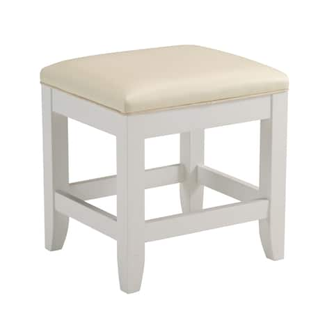 """Naples White Vanity Bench by Home Styles - 19""""h x 17""""w x 15""""d"""